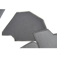 thumb-Bekleding schutbord, gelijkend materiaal, verbeterde pasvorm voor Citroen 2CV zwart  (6 delige set)  1976- eind-6
