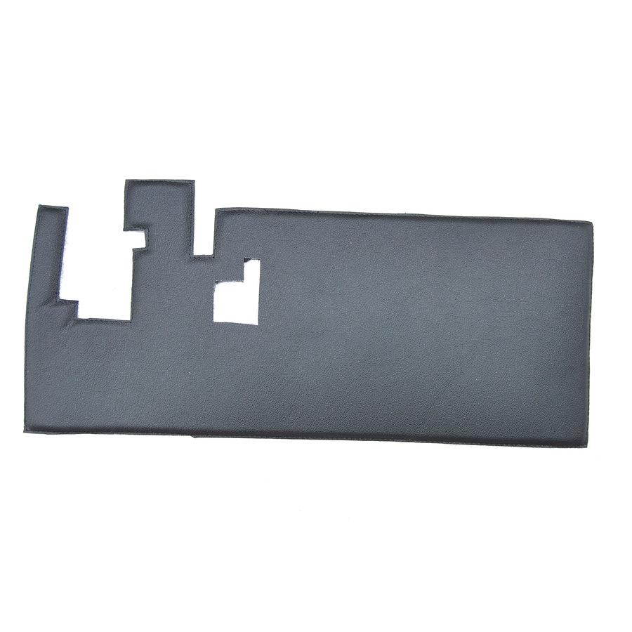 Bekleding schutbord, gelijkend materiaal, verbeterde pasvorm voor Citroen 2CV zwart  (6 delige set)  1976- eind-8