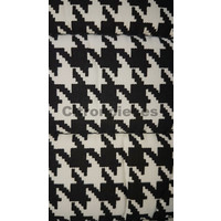 """thumb-Original seat cover set for rear bench in """"pied de poule"""" black and white cloth Charleston Citroën 2CV-3"""