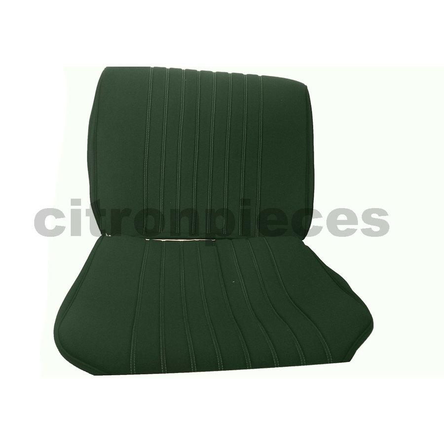 Garniture siège AV en étoffe vert unie pour assise + dossier Panneau de fermeture en simili blanchâtre Citroën ID/DS-1