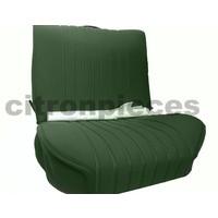 thumb-Sitzbezugsatz für Vordersitz Stoff-bezogen grün (1 Farbton): Sitz + Rückenlehne + Abschlussfüllung in weißemTarga Citroën ID/DS-2