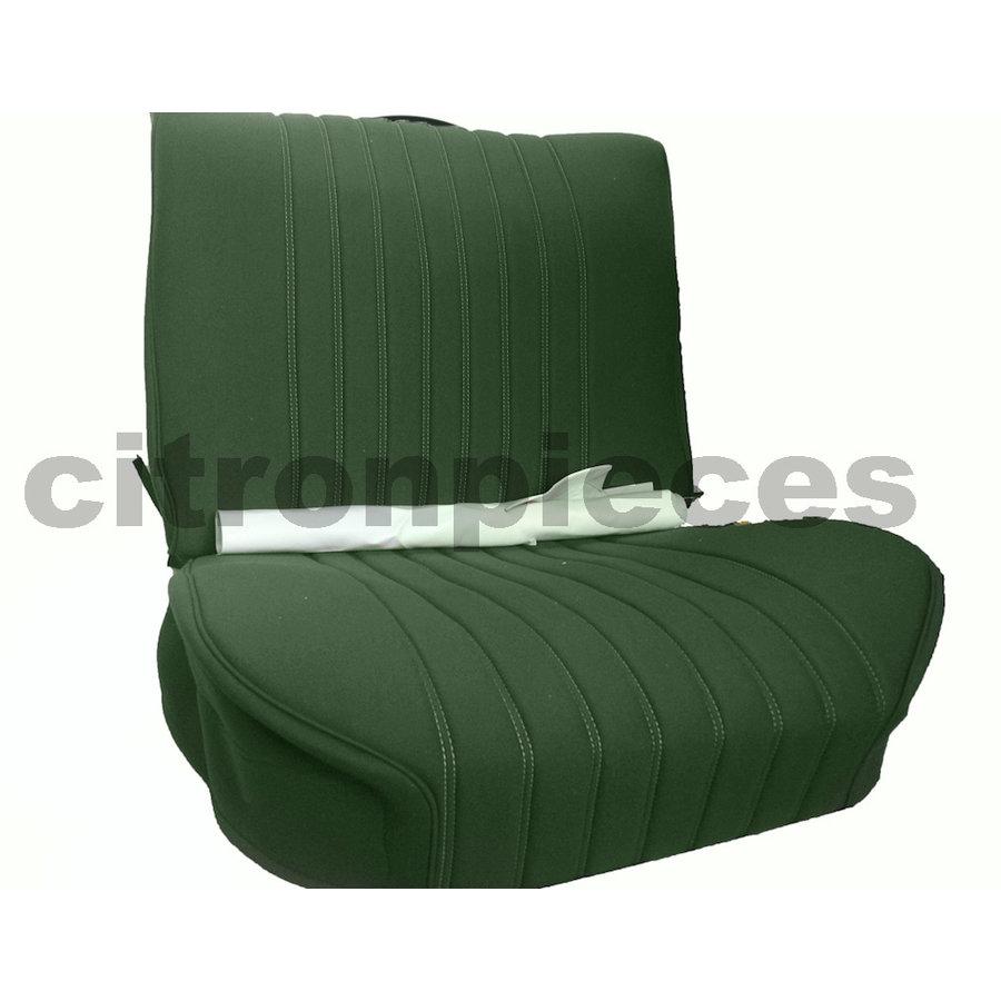 Garniture siège AV en étoffe vert unie pour assise + dossier Panneau de fermeture en simili blanchâtre Citroën ID/DS-2