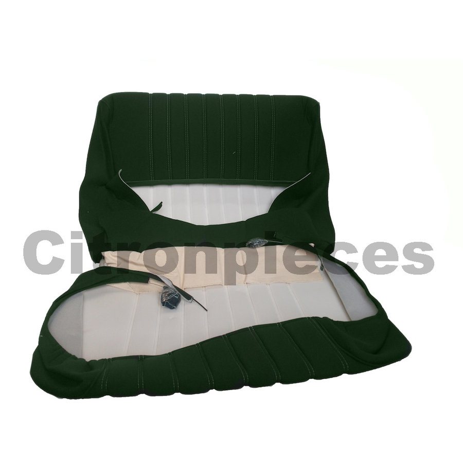 Garniture siège AV en étoffe vert unie pour assise + dossier Panneau de fermeture en simili blanchâtre Citroën ID/DS-3
