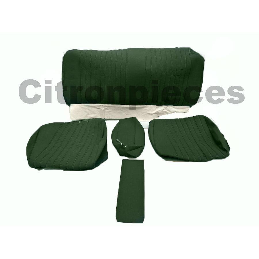 Sitzbezugsatz für Hinterbank Stoff-bezogen grün (1 Farbton): Sitz 1 Teil Rückenlehne 4 Teile Citroën ID/DS-1