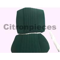 thumb-Sitzbezugsatz für Pallas Vordersitz Stoff-bezogen grün (Mittelteil mit Bahnen): Sitz + Rückenlehne + Abschlussfüllung in weißemTarga Citroën ID/DS-1