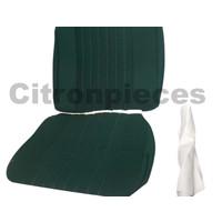 thumb-Sitzbezugsatz für Pallas Vordersitz Stoff-bezogen grün (Mittelteil mit Bahnen): Sitz + Rückenlehne + Abschlussfüllung in weißemTarga Citroën ID/DS-2