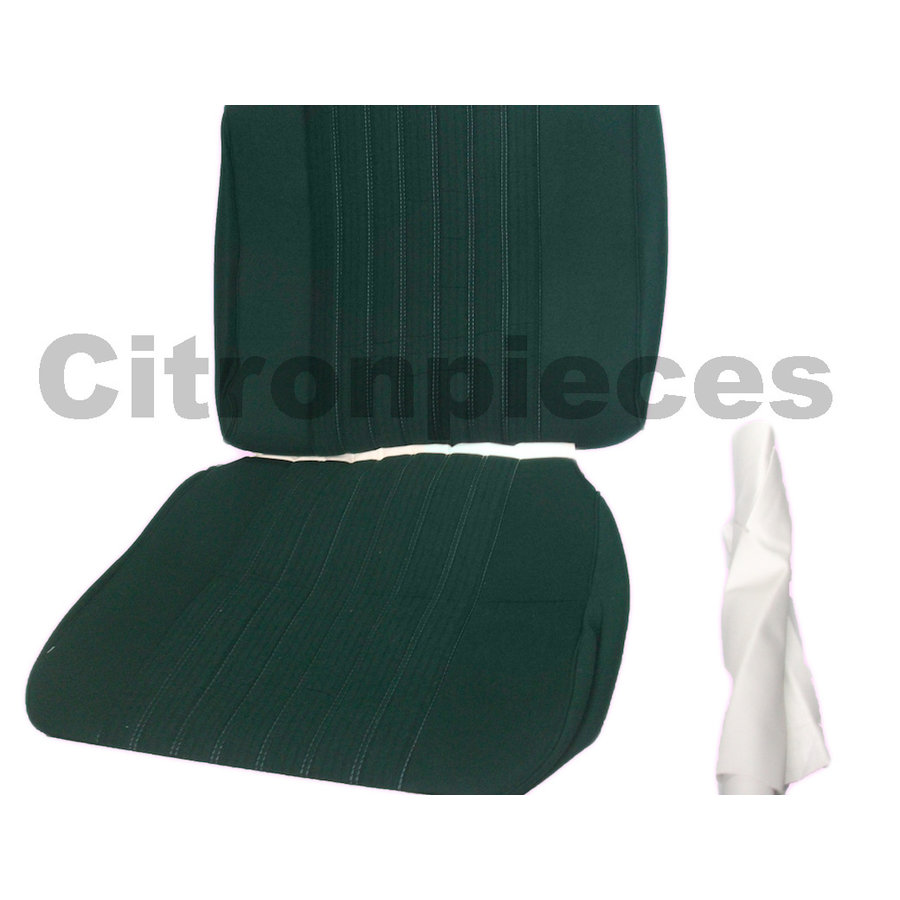 Front seat cover pallas 70-73 green cloth Citroën ID/DS-2