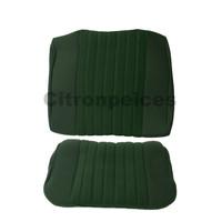 thumb-Garniture pour banquette AR PA en étoffe vert (partie centrale en deux tons) pour assise 1 pièce dossier 4 pièces Citroën ID/DS-1