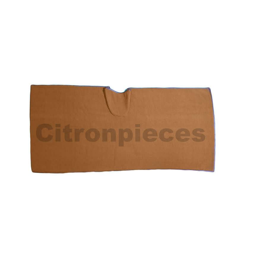 Bodenmatte hinten braun Originalreplikat (Pallas) mit Schaum Citroën ID/DS-2