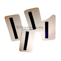 thumb-Set van 4 deurschotten wit met zwarte band - Ami 6-2