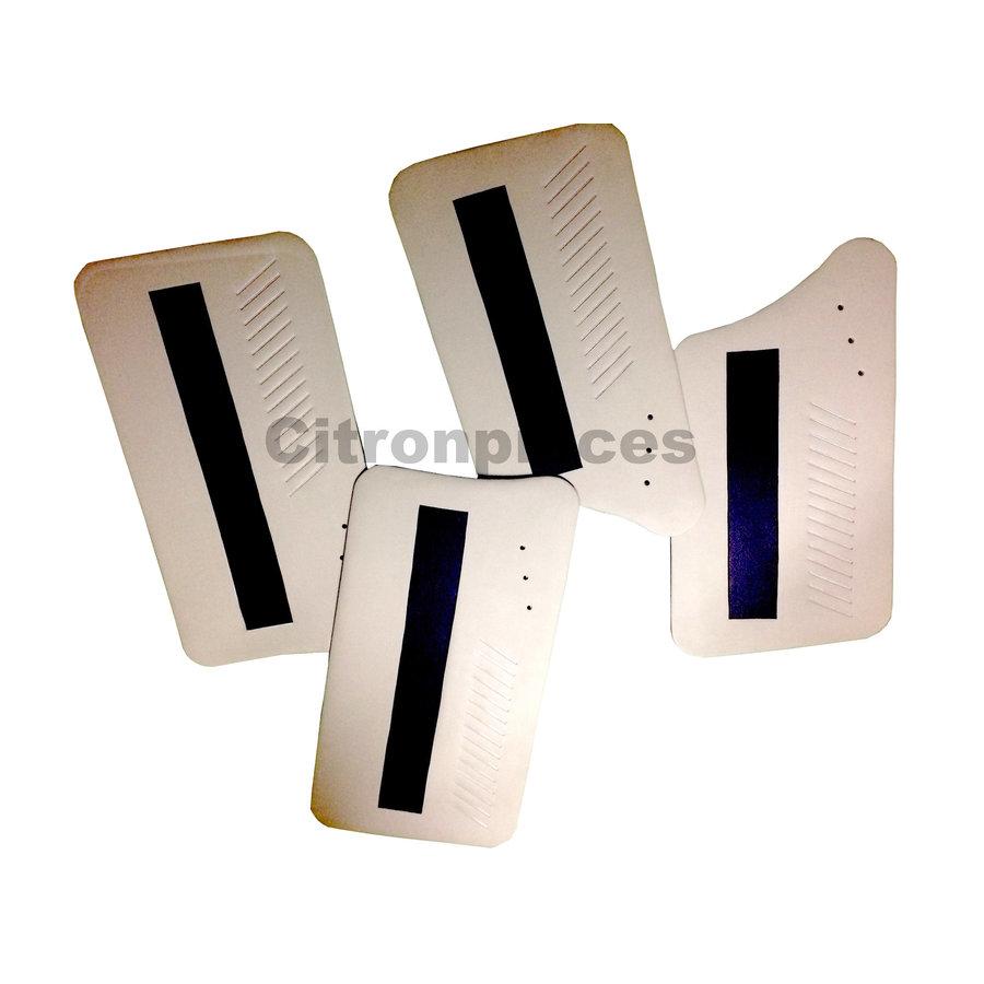 Set van 4 deurschotten wit met zwarte band - Ami 6-2