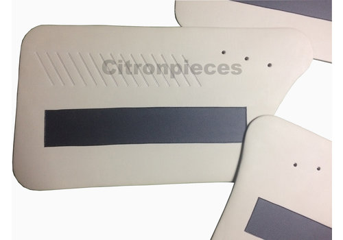 Ami Set van 4 deurschotten wit met zwarte band - Ami 6