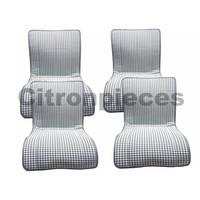 """thumb-Ensemble de sièges """"pied de poule"""" pour ancien type 2CV (années 50 et 60)-1"""
