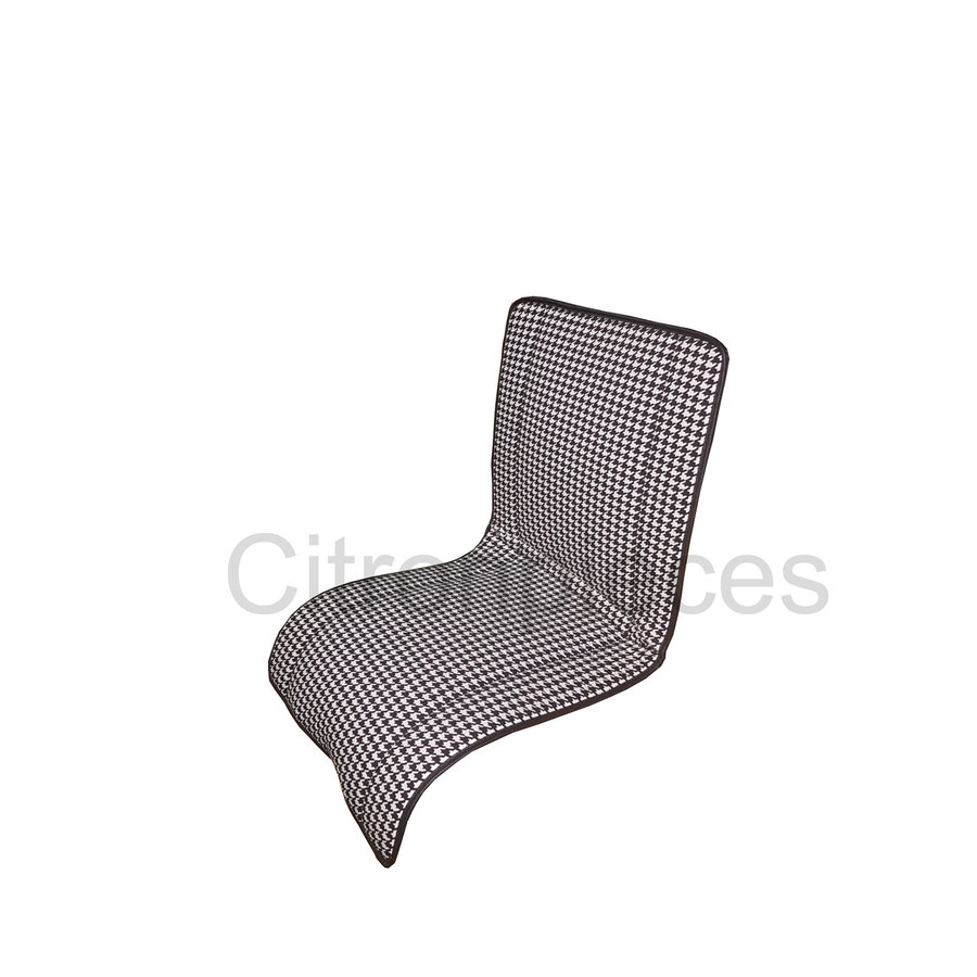 "Original seat cover set for rear bench in ""pied de poule"" black and white cloth Charleston Citroën 2CV  - Copy-3"