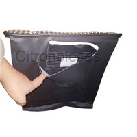 """thumb-Original seat cover set for rear bench in """"pied de poule"""" black and white cloth Charleston Citroën 2CV  - Copy-4"""