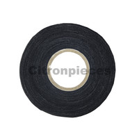 Cloth tape (black) for repairing electrical cables [25M]