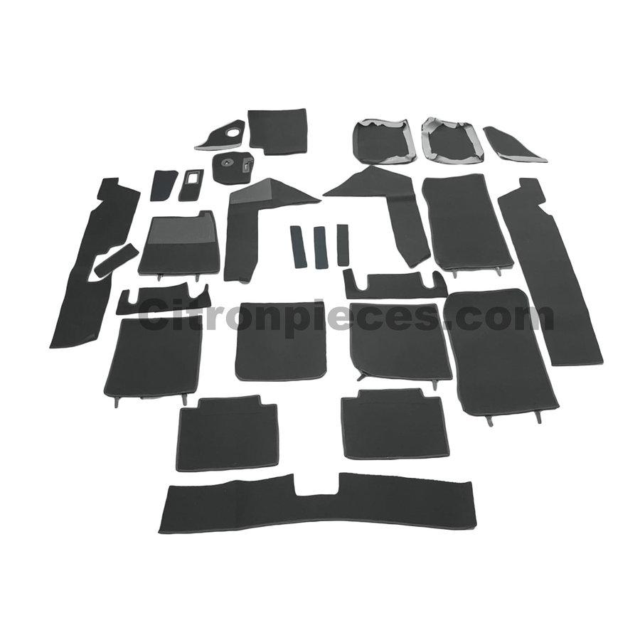 Complete set of carpet mat pieces grey [22] Citroën SM - Copy-1