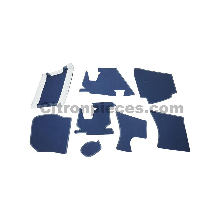 Jeu complet de tapis bleu pour PA (méchanique/hydrolique/injection) Citroën ID/DS-2