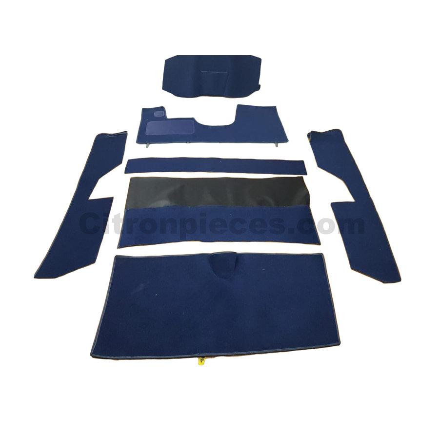 Jeu complet de tapis bleu pour PA (méchanique/hydrolique/injection) Citroën ID/DS-1