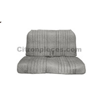 thumb-Seat cover set, front and rear, blue denim, open sides, 2CV.-2