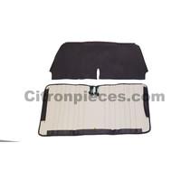 thumb-Original seat cover set for front bench in black leatherette Dyane Citroën 2CV --2