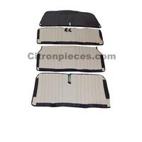 thumb-Original seat cover set for front bench in black leatherette Dyane Citroën 2CV --1