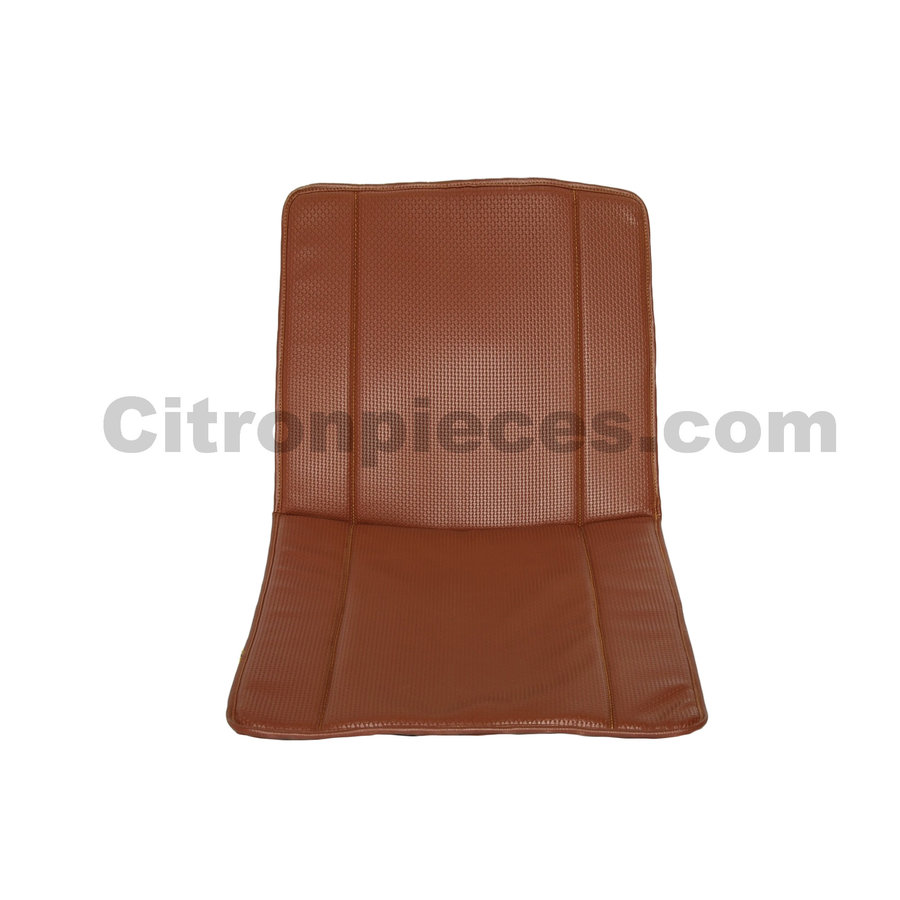 Original seat cover set for front seat in brown leatherette years '50 '60 Citroën 2CV-1
