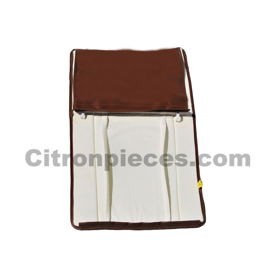 Original seat cover set for front seat in brown leatherette years '50 '60 Citroën 2CV-2
