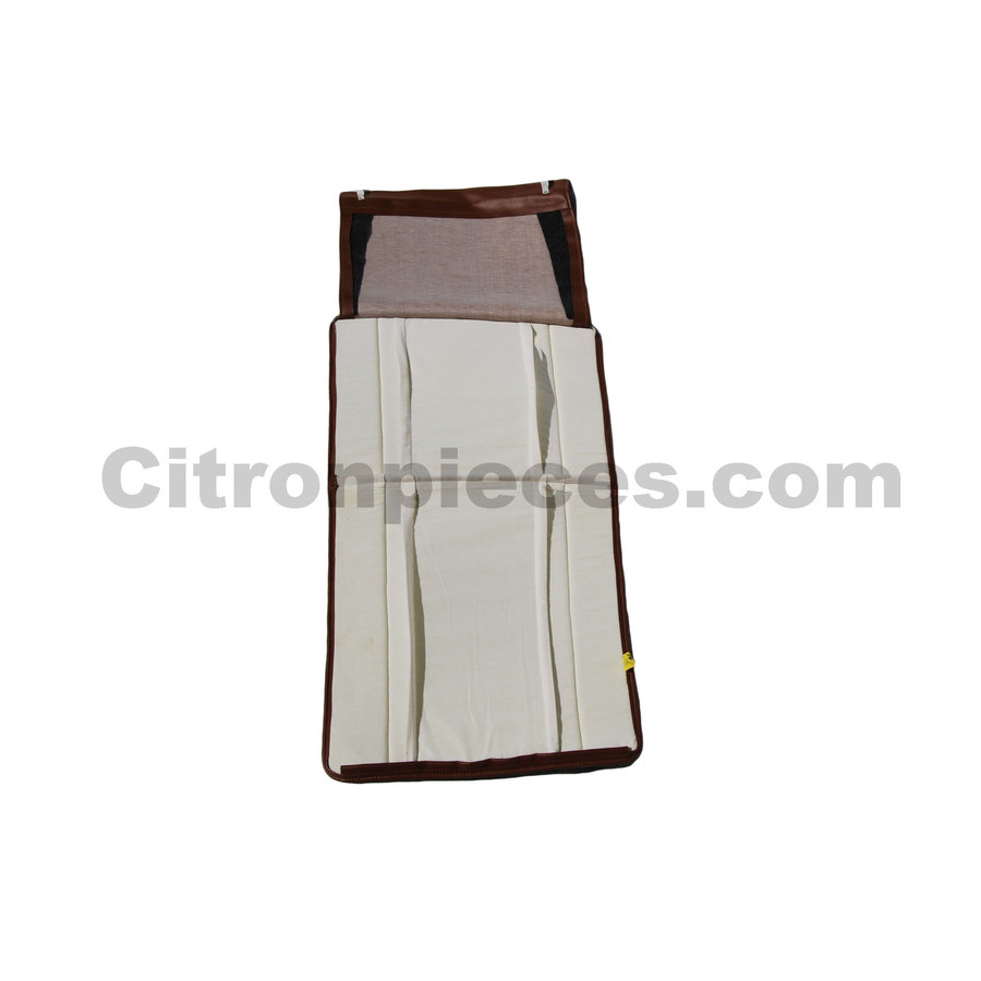Original seat cover set for front seat in brown leatherette years '50 '60 Citroën 2CV-3