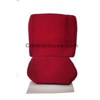 Satz für Vordersitzbezug Stoff-bezogen rot (1 Farbton): Sitz + Rückenlehne + Abschlussfüllung in weißemTarga Waffel-Modell Citroën ID/DS