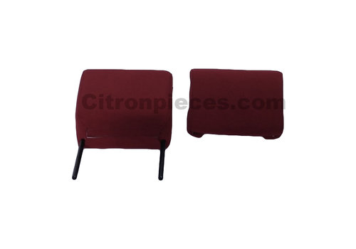 ID/DS Head rest with red cloth trimming narrow model 2 pieces Citroën ID/DS