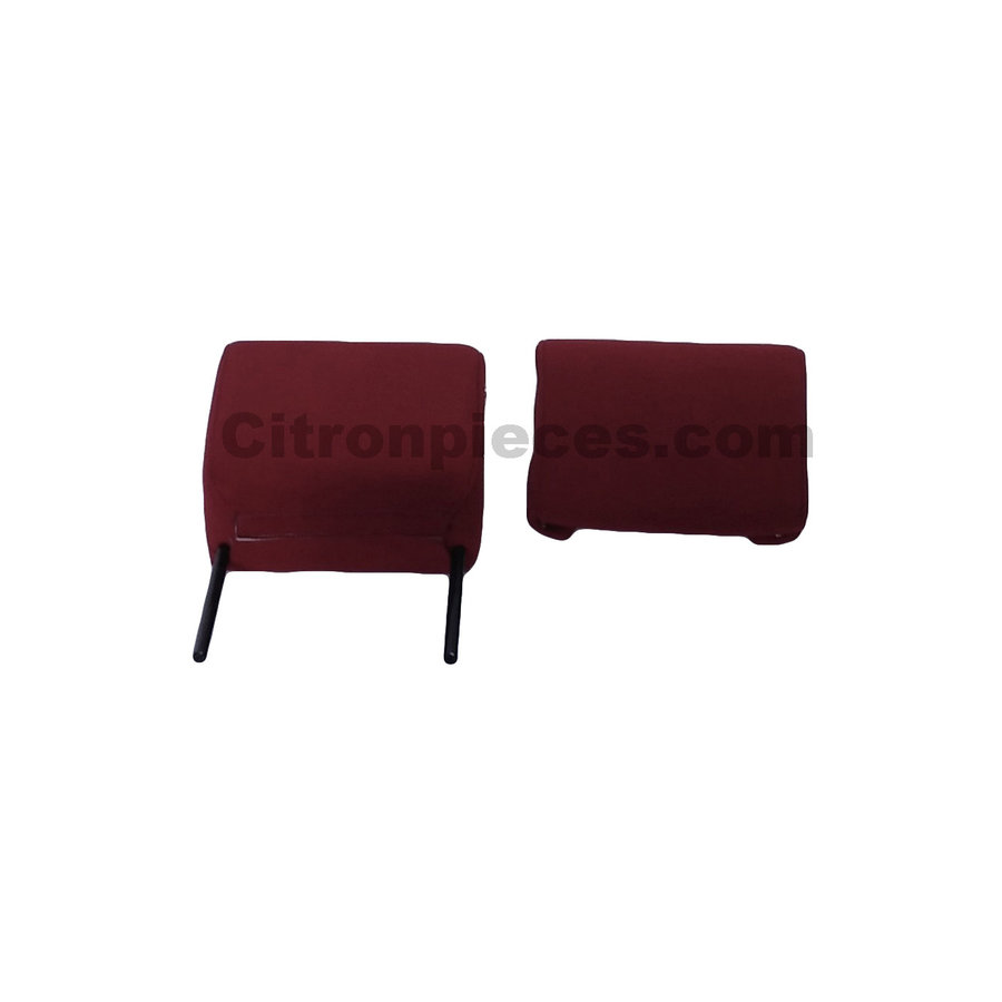 Head rest with red cloth trimming narrow model 2 pieces Citroën ID/DS-1
