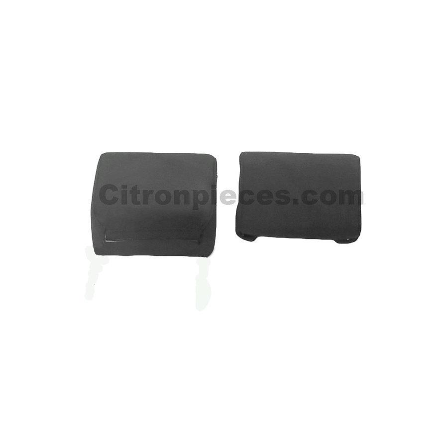 Bezug für Kopfstütze (2 teilig) Stoff grau schmales Modell Citroën ID/DS-1