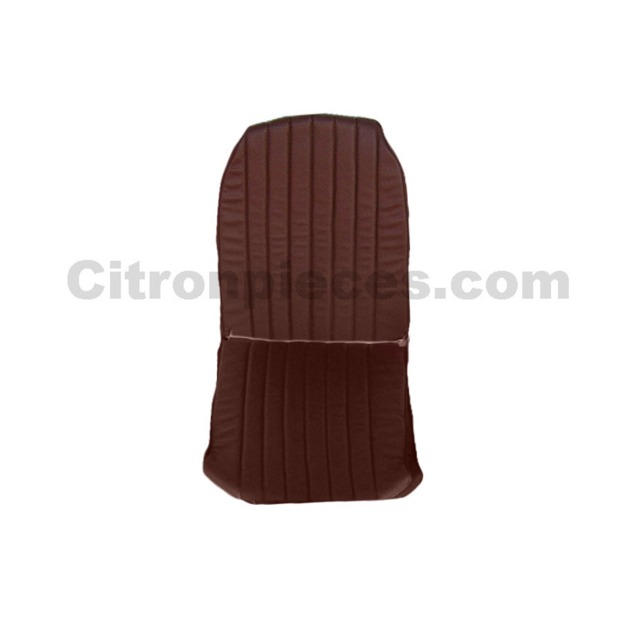 Original seat cover set for front R seat in brown leatherette (2 round angles) Citroën 2CV-1