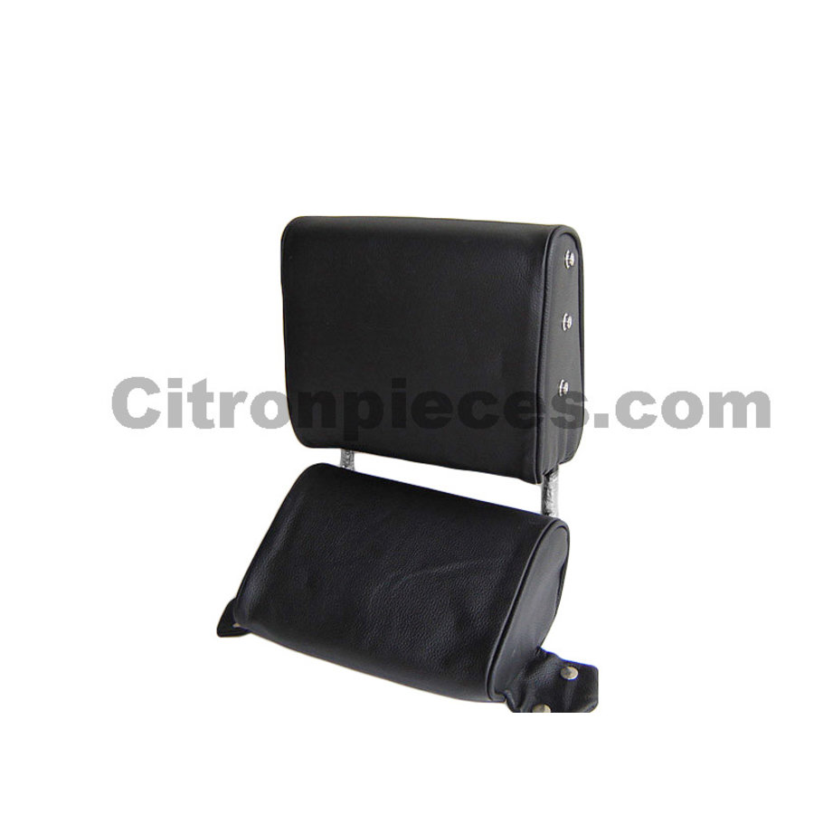 Head rest with black leather trimming narrow model 2 pieces Citroën ID/DS-1
