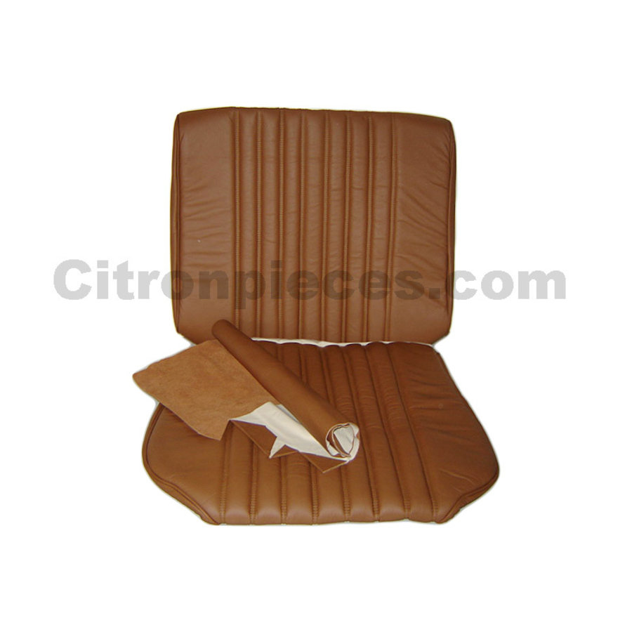 Front seat cover light brown leather Citroën ID/DS-1