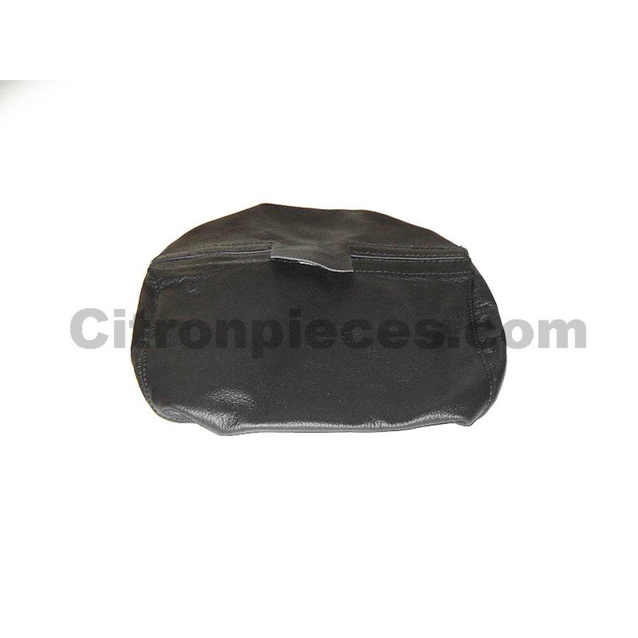 Garniture pour repose-tête et tige de fixation de repose-tête cuir noir Citroën SM-1
