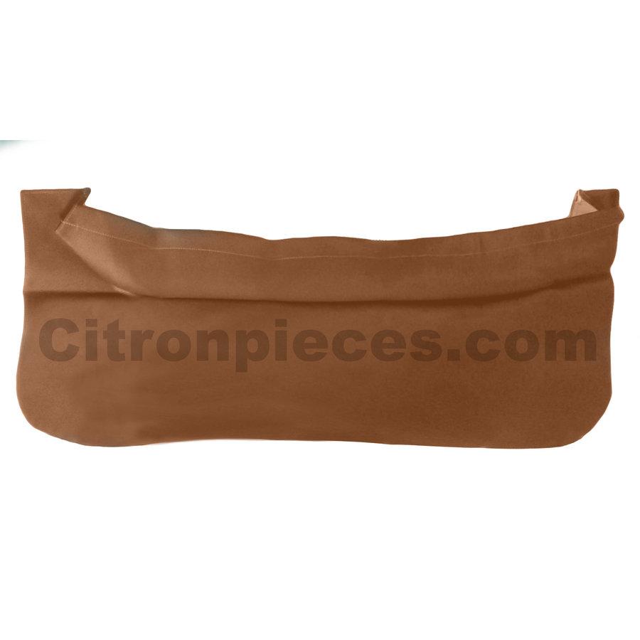Trimming for rear window shelf brown leatherette Citroën 2CV-1