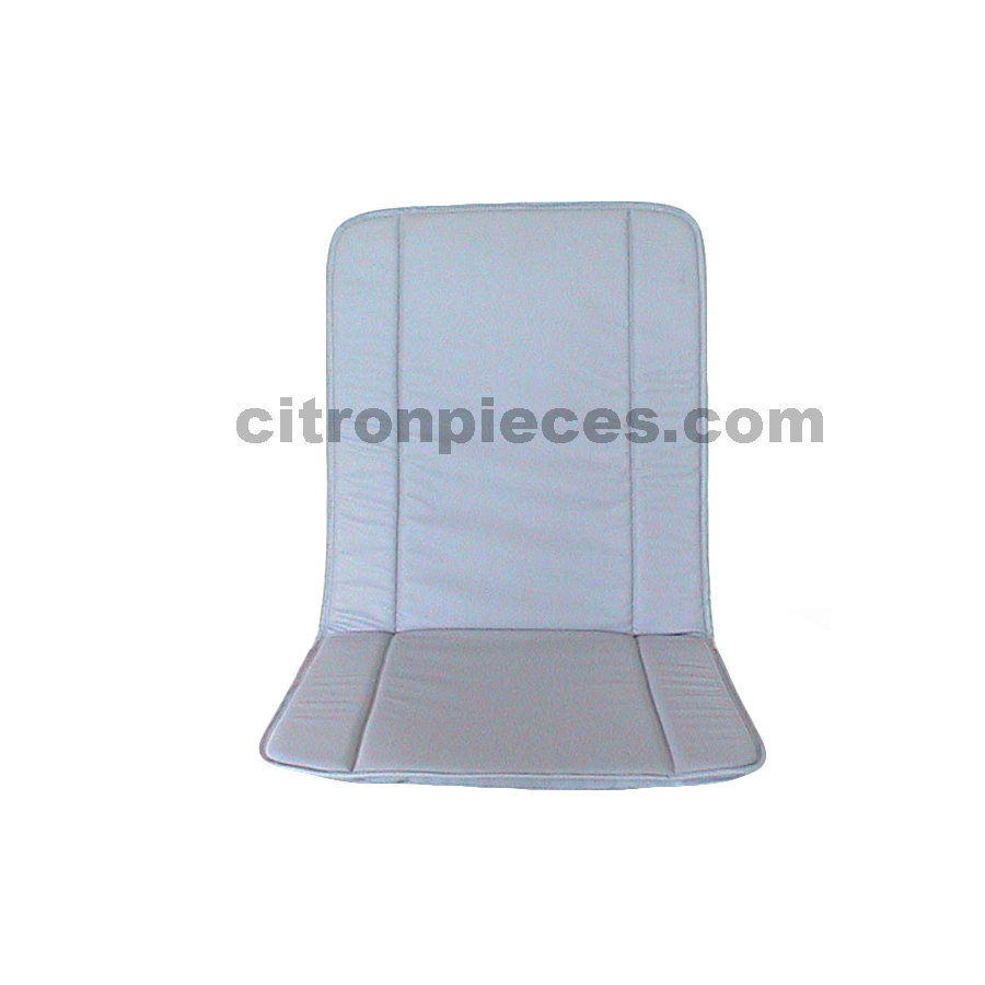 Original seat cover set for front seat in gray leatherette years '50 '60 Citroën 2CV-1
