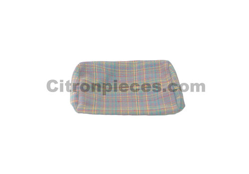 2CV Head rest cover (for German version) gray cloth used in last produced Citroën 2CV