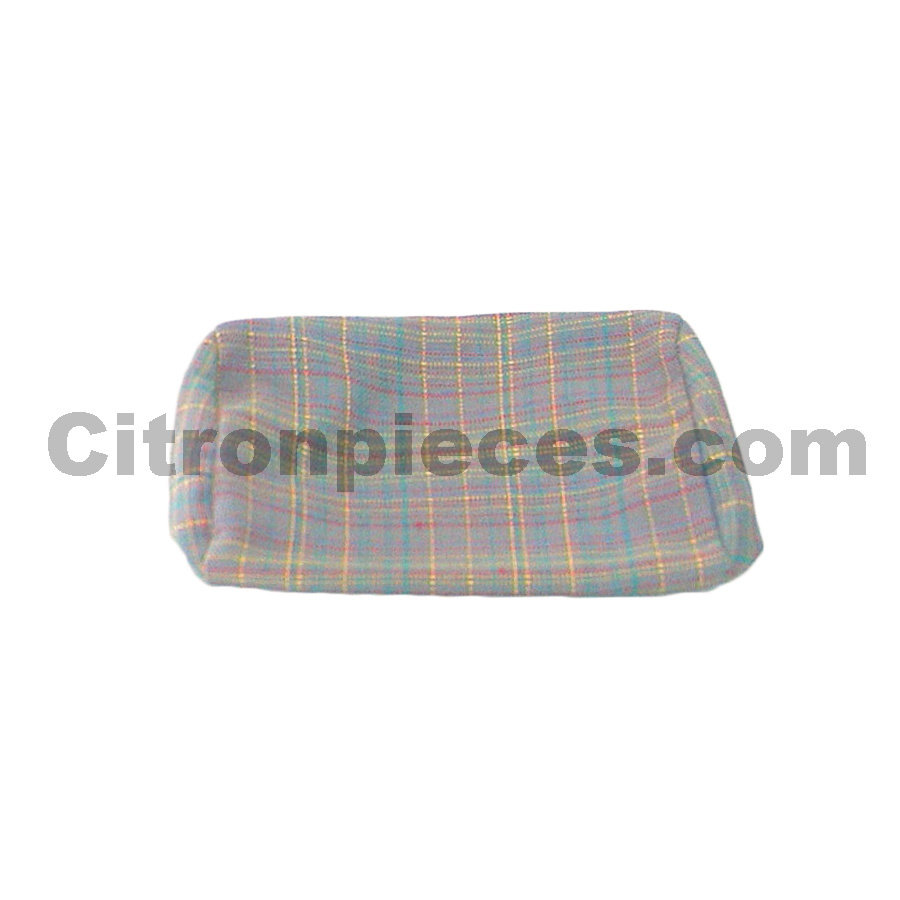 Head rest cover (for German version) gray cloth used in last produced Citroën 2CV-1