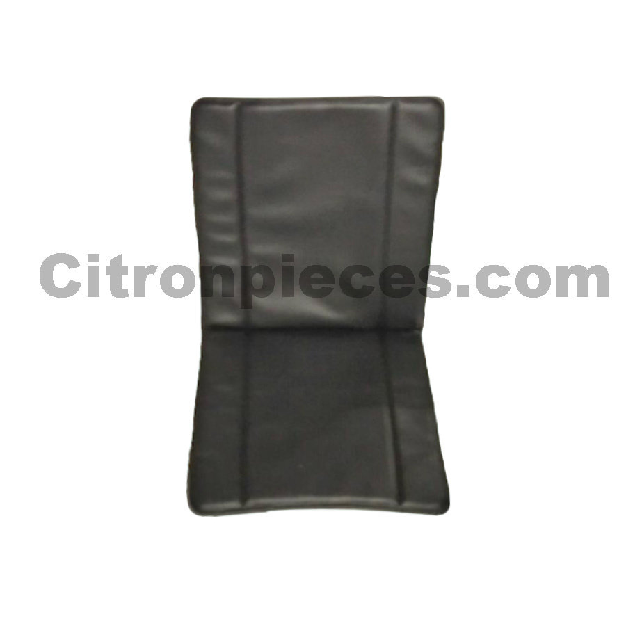 Seat cover for front seat in strong black leatherette (fourgonette) years '50 '60 Citroën 2CV-1