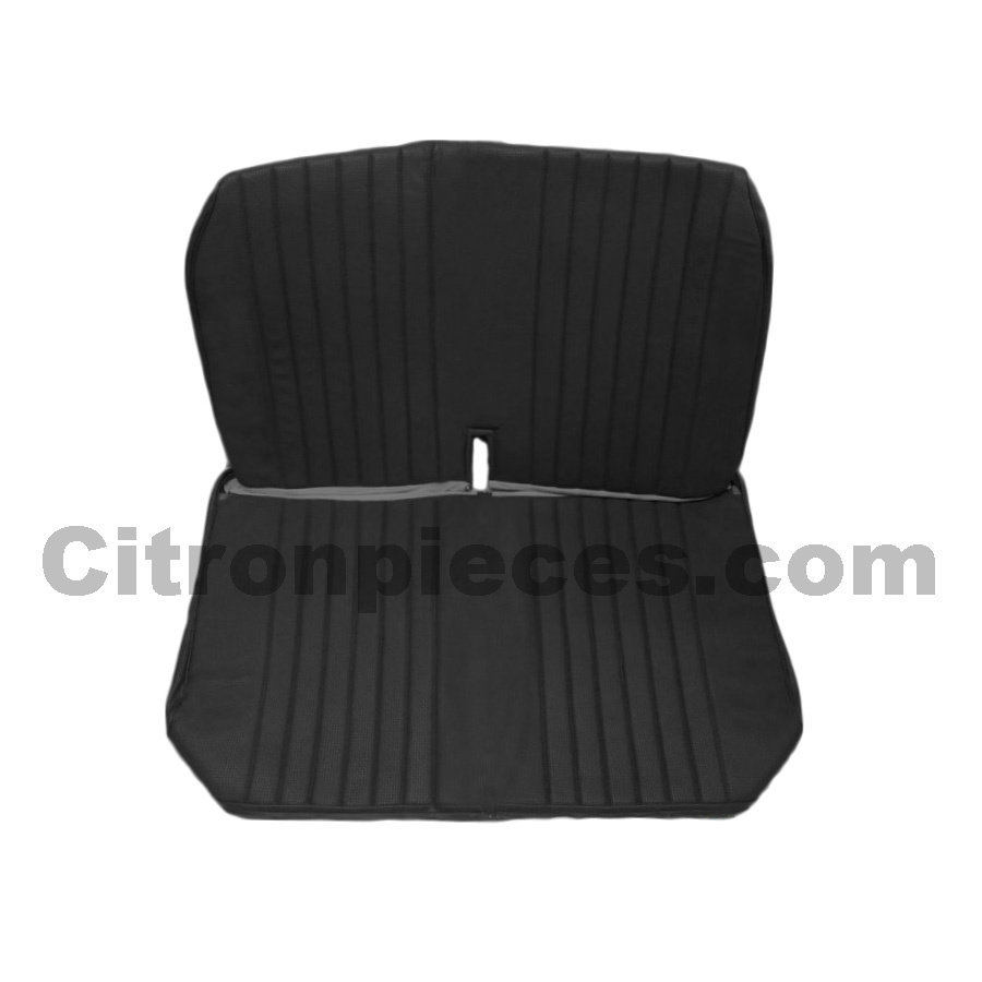 Original seat cover set for front bench with closed sides in black leatherette Dyane Citroën 2CV-1