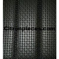 thumb-Voorbankhoes zwart skai met gesloten zijkanten Citroën 2CV-2