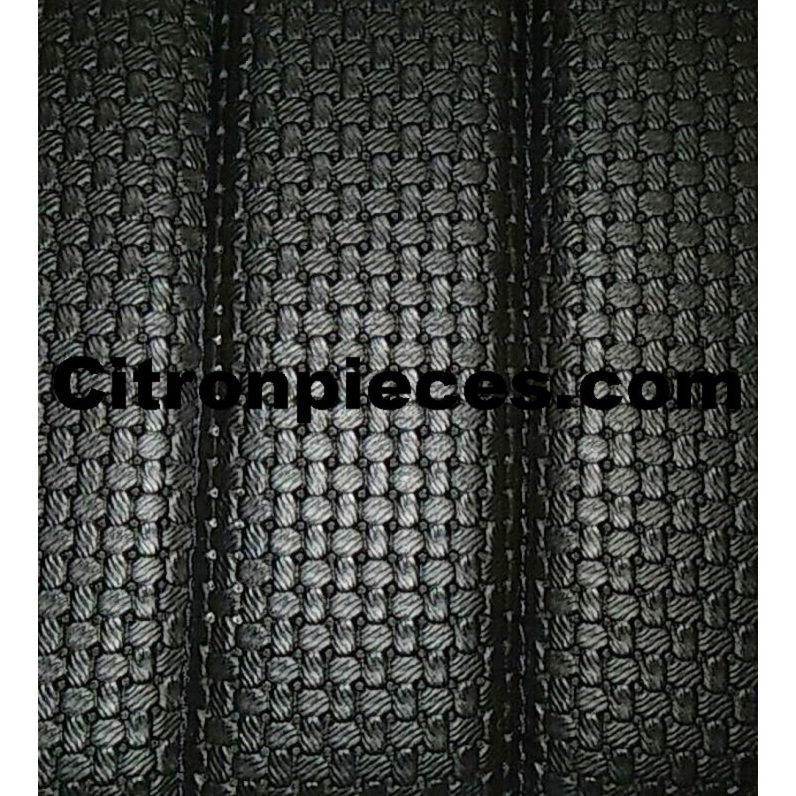 Original seat cover set for front bench with closed sides in black leatherette Dyane Citroën 2CV-2