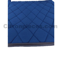 thumb-Seat cover set for front L seat (2 round angles) in blue cloth Charleston Citroën 2CV-3