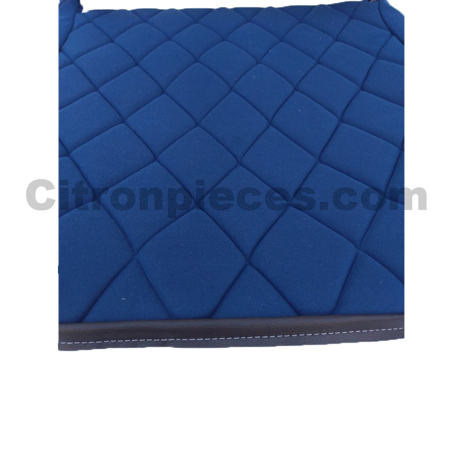 Seat cover set for front L seat (2 round angles) in blue cloth Charleston Citroën 2CV-3