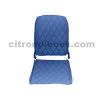 thumb-Sitzbezug Vordersitz rechts (Rückenlehne mit 2 abgerundeten Ecken) blauer Stoff Charleston Citroën 2CV-1