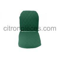 thumb-Original Sitzbezug Vordersitz links (Rückenlehne mit 2 abgerundeten Ecken) grün Stoff Charleston Citroën 2CV-3