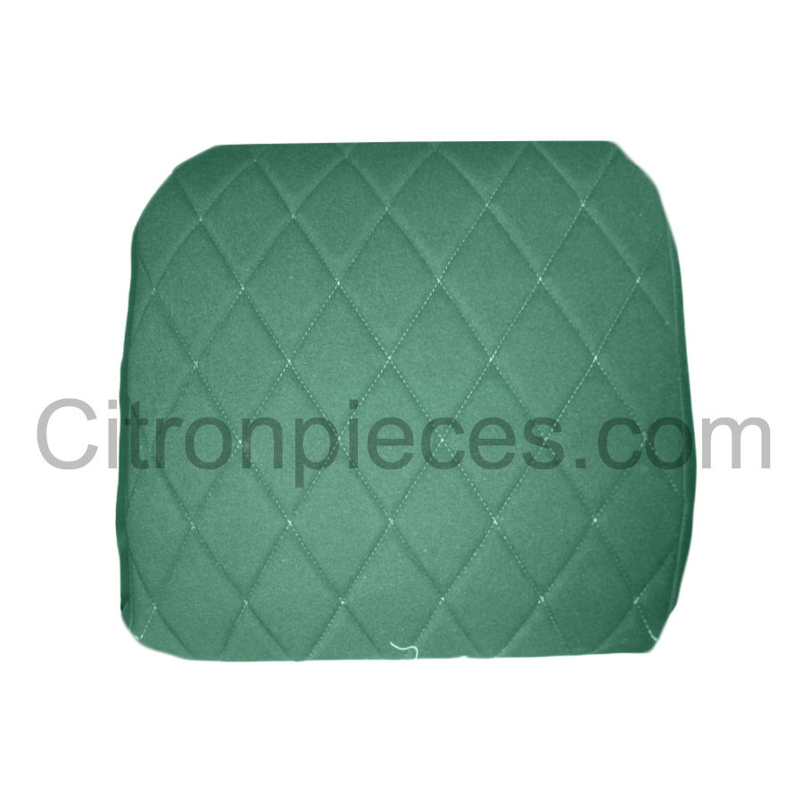 Original seat cover set for front L seat (2 round angles) in green cloth Charleston Citroën 2CV-4